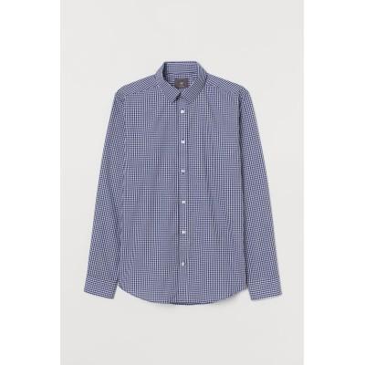 H&M - スリムフィット イージーアイロンシャツ - ブルー