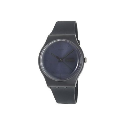 腕時計 スウォッチ Swatch Men's Originals SUOB702 Black Silicone Quartz Fashion Watch