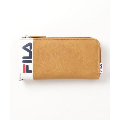 財布 【FILA/フィラ】ラウンドLファスナーウォレット ブランドロゴ プリント