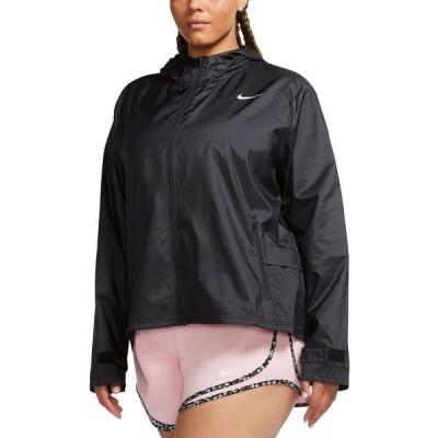 ナイキ ジャケット&ブルゾン アウター レディース Plus Size Hooded Running Jacket Black/Reflective Silver