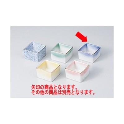 珍味 和食器 / 角型珍味入コバルト吹 寸法:5.7 x 5.7 x 3.7cm