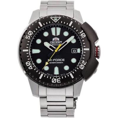 Orient M-Force 70周年記念ダイバーズ200mスポーツ自動ブラックダイヤルサファイアガラス腕時計 RA-AC0L01B 並行輸入品