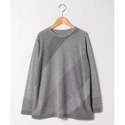 LAPINE ROUGE/ラピーヌ ルージュ カシミヤ混 フェアリーテール配色セーター グレー 46