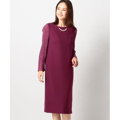 【ミューズ リファインド クローズ】 バックサテンサックドレス レディース 赤系 M MEW'S REFINED CLOTHES
