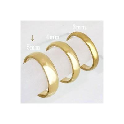 K18リング 平甲丸巾5mm6g オーダー 結婚指輪 18金 高密度 鍛造 たんぞう 記念日 ギフト