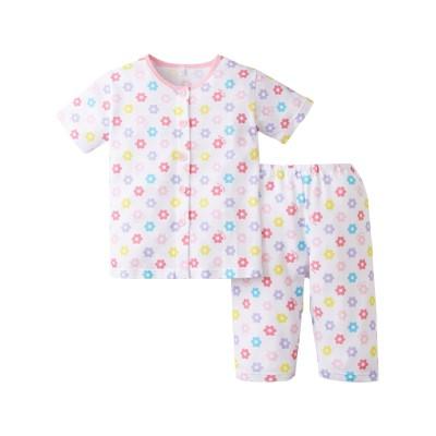 綿100%前開きメッシュパジャマ(男の子。女の子 子供服) キッズパジャマ, Kids' Pajamas