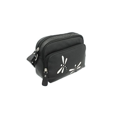 Mala Leather AZURE Collection Soft Leather Shoulder/Cross Body Bag 781_81 Black 並行輸入品