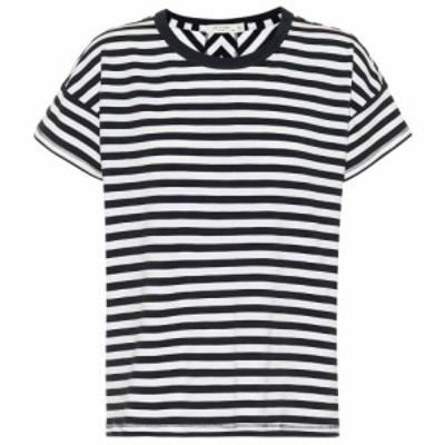 ラグandボーン Rag and Bone レディース Tシャツ トップス Kat cotton-blend T-shirt White/Navy
