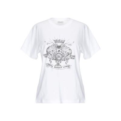 SAINT LAURENT T シャツ ホワイト M コットン 100% / ガラス T シャツ