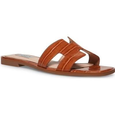 スティーブン ニューヨーク STEVEN NEW YORK レディース サンダル・ミュール シューズ・靴 Enida Slide Sandals Cognac Croco