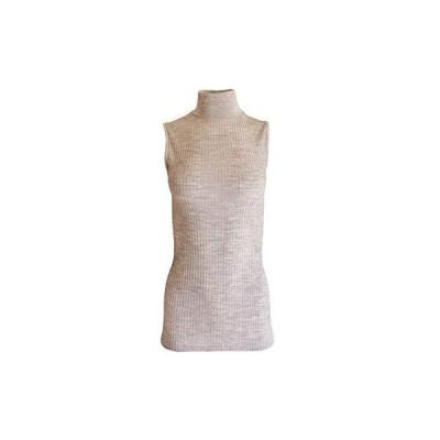 EGI Exclusive Collections Merino Wool Blend Mock Neck Sleeveless Top. Proud