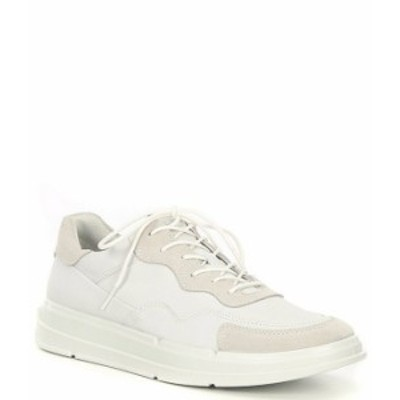 エコー メンズ ドレスシューズ シューズ Men's Soft X Lace-Up Sneakers White