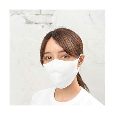 冷感マスク 洗える 日本製 白 大きめ (L)