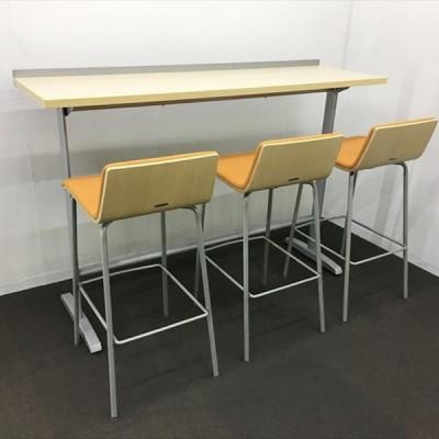 ハイテーブル ハイチェア 4点セット 81774B 中古 TH-837758C