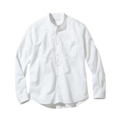 麻混スタンドカラー長袖シャツ カジュアルシャツ, Shirts, テレワーク, 在宅, リモート