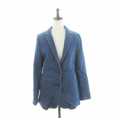【中古】アダムエロペ Adam et Rope' for AUTHENTIC CLOTHES ジャケット テーラード デニム 38 青 ブルー レディース