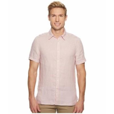Perry Ellis ペリーエリス 服 一般 Short Sleeve Solid Linen Shirt