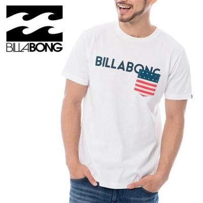 ビラボン 半袖Tシャツ メンズ ロゴ 綿100% AJ011289 ホワイト