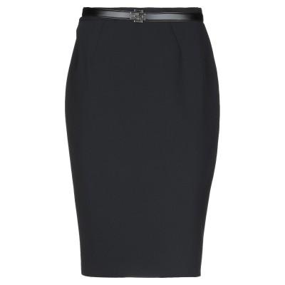 ELISABETTA FRANCHI ひざ丈スカート ブラック 38 ポリエステル 96% / ポリウレタン 4% ひざ丈スカート