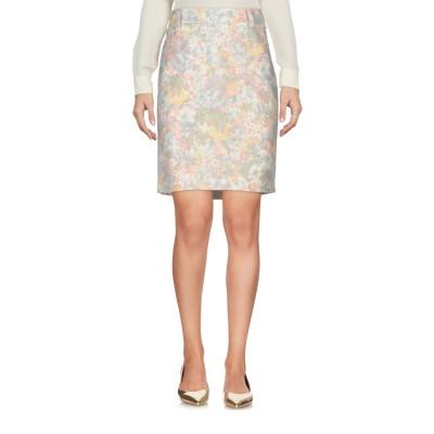 パトリツィア ペペ PATRIZIA PEPE ひざ丈スカート ベージュ 42 コットン 54% / ナイロン 42% / ポリウレタン 4% ひざ