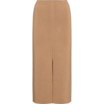 ガブリエラ ハースト Gabriela Hearst レディース ひざ丈スカート スカート hodgins wool, cashmere and silk midi skirt Camel/Black