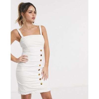 ファインダキーパー ミニドレス レディース Finders Keepers effy buttondown mini dress in ivory エイソス ASOS
