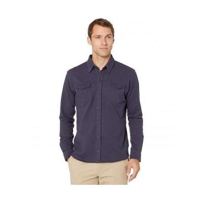 The Normal Brand メンズ 男性用 ファッション ボタンシャツ Knit Workman - Navy