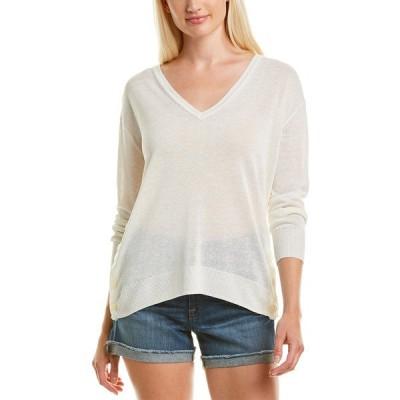 ジェイクルー ニット&セーター アウター レディース J.Crew V-Neck Linen-Blend Sweater ivory