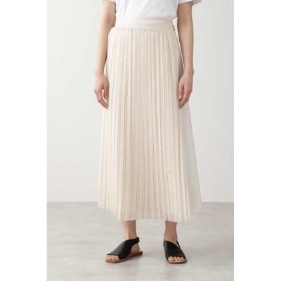 【ヒューマンウーマン/HUMAN WOMAN】 ◆オーガンジープリーツスカート