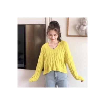 【送料無料】秋服 年 西洋風 ファッション 何でも似合う ルース 短いトップス 女   346770_A63672-1183886