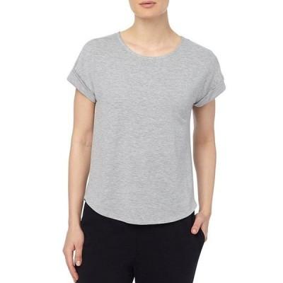 ジョーンズニューヨーク レディース Tシャツ トップス Roll Cuff Short Sleeve Jewel Neck Knit T-shirt