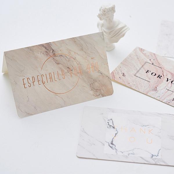 燙金卡片(附信封) 聖誕卡片 節日 空白卡片 大理石紋 感謝卡 祝福小卡 賀卡【B005】生活家精品