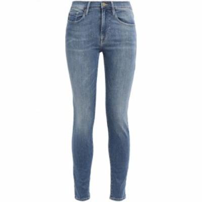 フレーム FRAME レディース ジーンズ・デニム ボトムス・パンツ Garland cutout high-rise skinny jeans Mid denim