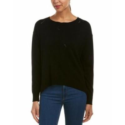 Michael Stars マイケルスターズ ファッション トップス Michael Stars Distressed Wool-Blend Sweater M Black