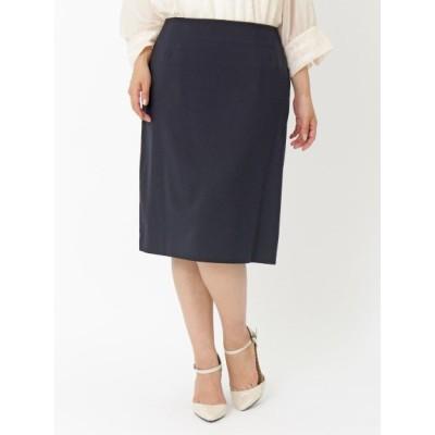 【大きいサイズ】【21夏新着】【3L】シンプルなデザインで着回し力抜群のスカート 大きいサイズ スカート レディース
