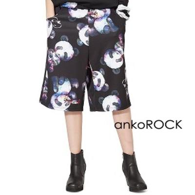 ankoROCK アンコロック ボトムス メンズ パンツ レディース ハーフパンツ ショート ひざ下 ビッグ パンダ