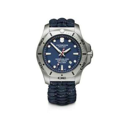 ビクトリノックス 腕時計 New Victorinox INOX イノックス Paracord Style Stainless Steel Blue Dial メンズ Watch 241843