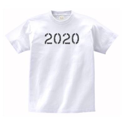 2020 令和2年 2020年 数字 文字 Tシャツ