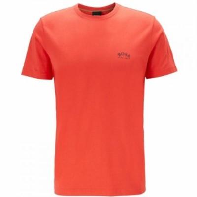 ヒューゴ ボス Boss メンズ Tシャツ トップス Tee Curved Bright Red