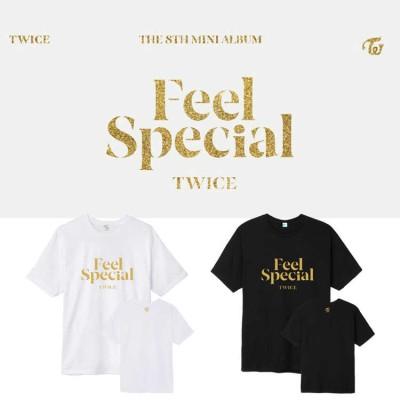 TWICEアルバムFeel Specialト週辺 半袖Tシャツ 韓国ファッション 男女兼用 トップス レディース メンズ 応援服