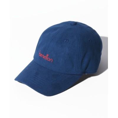 【ベネトン(ユナイテッド カラーズ オブ ベネトン)】 ベネトンロゴフェイクスエードキャップ・帽子 レディース ブルー FREE BENETTON (UNITED COLORS OF BENETTON)