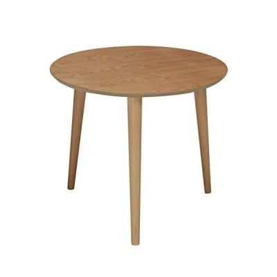 永井興産 NK-315 木製ラウンドテーブル (ナチュラル)※幅50×高さ42.5cm ※高級感のある突板