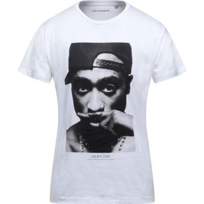 イレブン パリ ELEVEN PARIS メンズ Tシャツ トップス t-shirt White