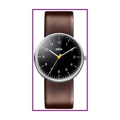 Braun Mens Analogue Classic Quartz Watch with Leather Strap BN0021BKBRG【並行輸入品】