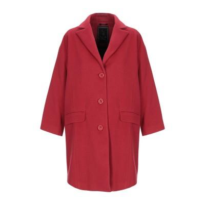 HANITA コート レッド 40 ウール 75% / ナイロン 20% / カシミヤ 5% コート