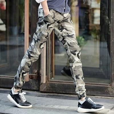 新品 人気 春夏 ジョガーパンツ 迷彩柄スキニージョガーパンツ 2色
