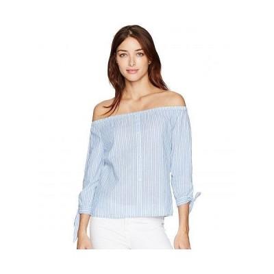Paige ペイジ レディース 女性用 ファッション ブラウス Karianne Top - Blue/White