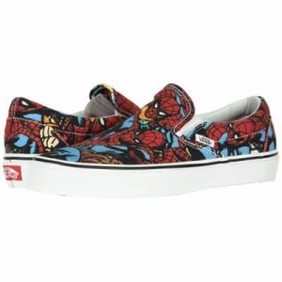 ヴァンズ スリッポン・フラット Classic Slip-On X Marvel Collab (Marvel) Spiderman/Black