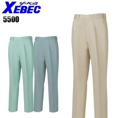 作業服 作業ズボン 春夏用  ツータック スラックス メンズ ジーベックXEBEC 5500