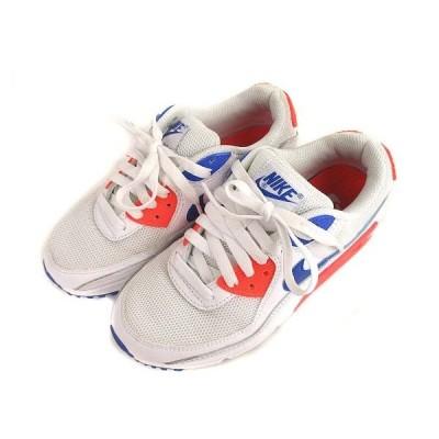 【中古】ナイキ NIKE AIR MAX 90 エアマックス 90 スニーカー シューズ 靴 CT1039-100 白 青 22.5cm レディース 【ベクトル 古着】